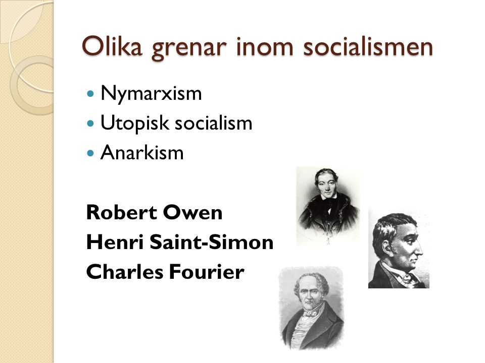 Olika grenar inom socialismen