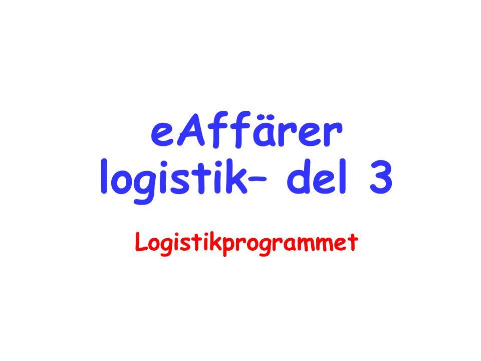 eAffärer logistik– del 3