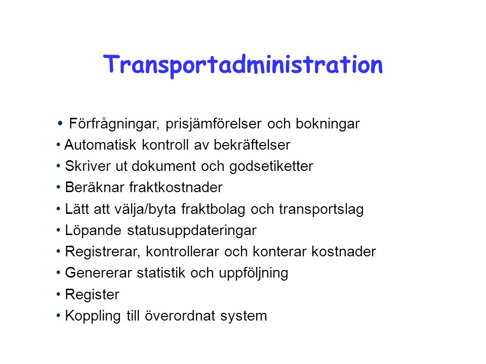 Transportadministration