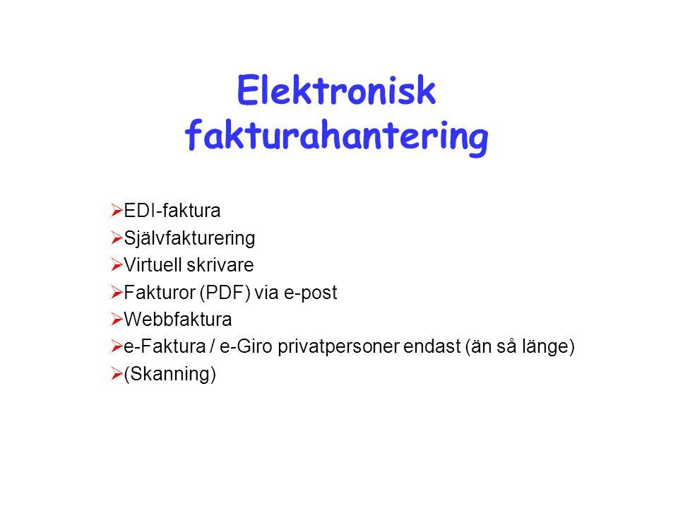 Elektronisk fakturahantering