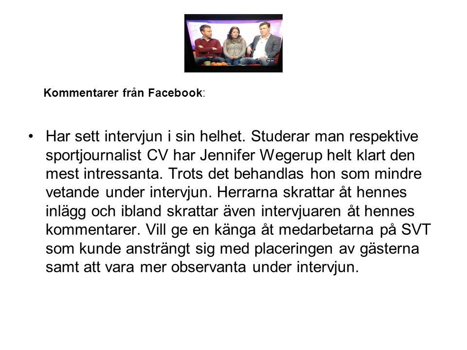 Kommentarer från Facebook: