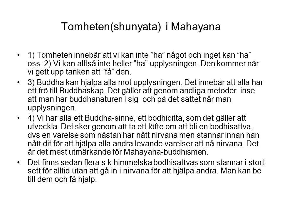 Tomheten(shunyata) i Mahayana