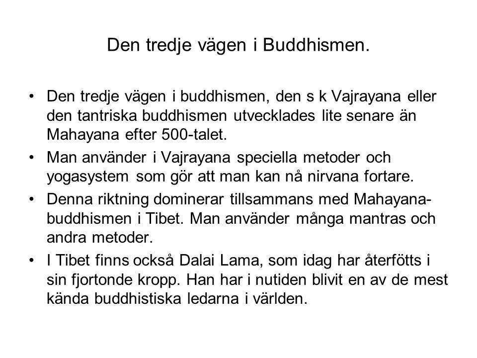 Den tredje vägen i Buddhismen.