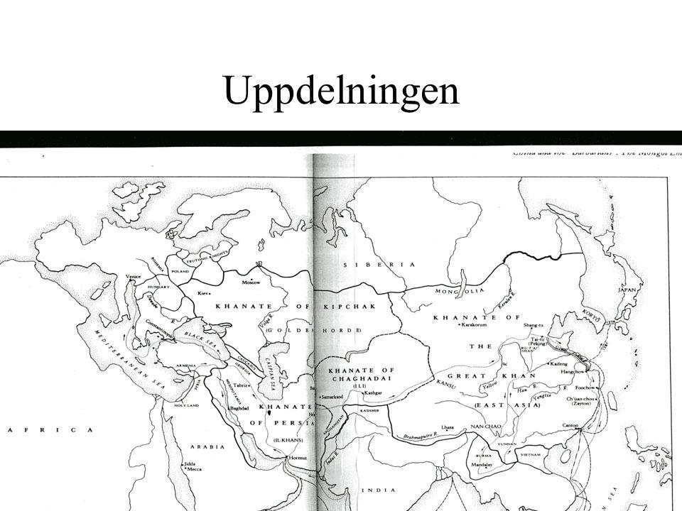 Uppdelningen Stora Khanatet: Ogodei till 1368