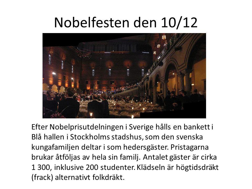 Nobelfesten den 10/12