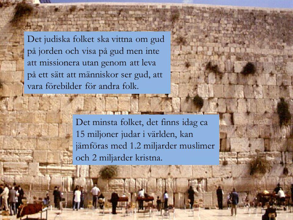 Det judiska folket ska vittna om gud på jorden och visa på gud men inte att missionera utan genom att leva på ett sätt att människor ser gud, att vara förebilder för andra folk.