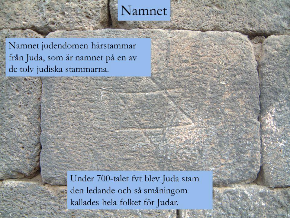 Namnet Namnet judendomen härstammar från Juda, som är namnet på en av