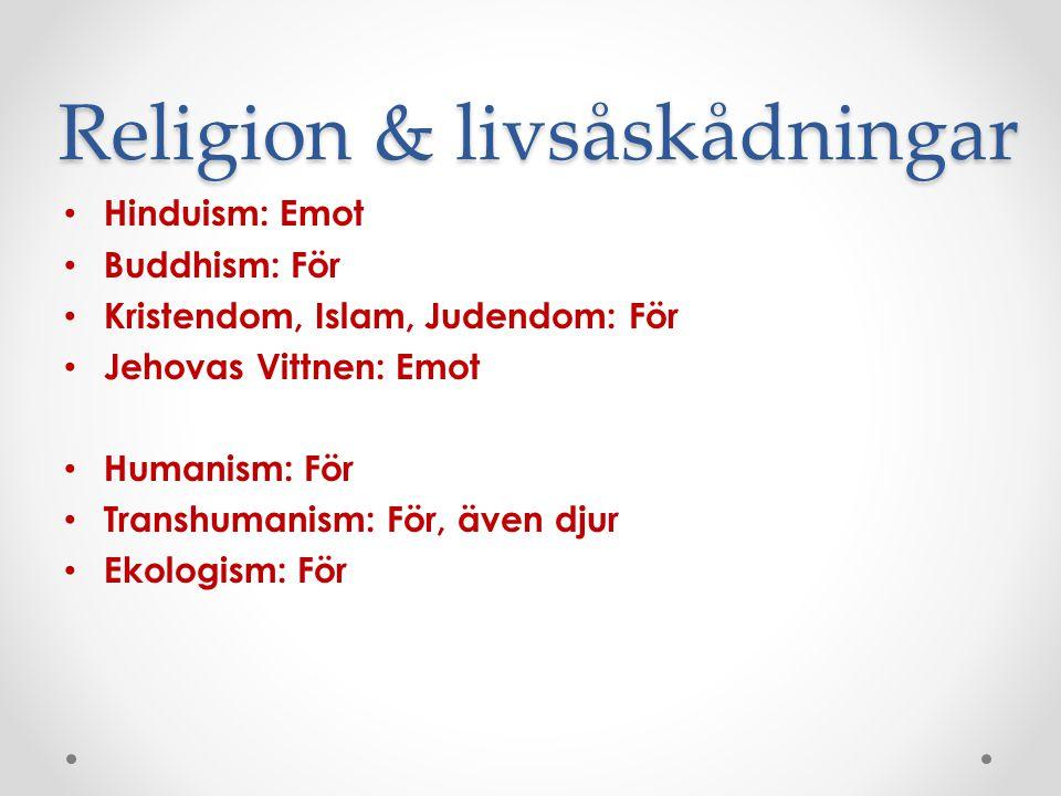 Religion & livsåskådningar
