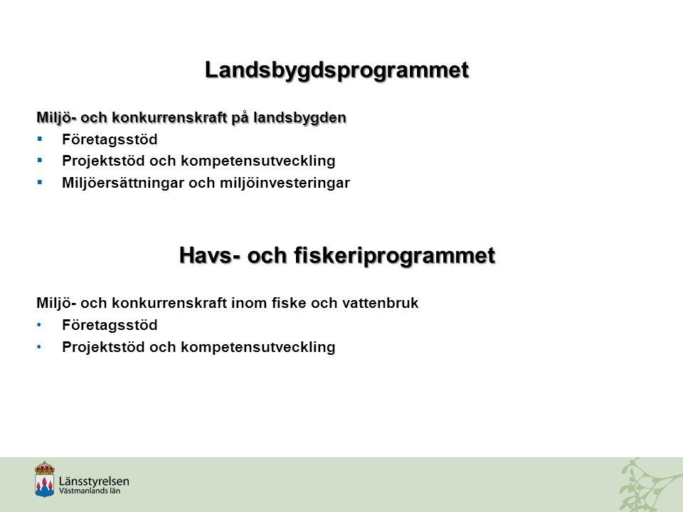 Landsbygdsprogrammet Havs- och fiskeriprogrammet