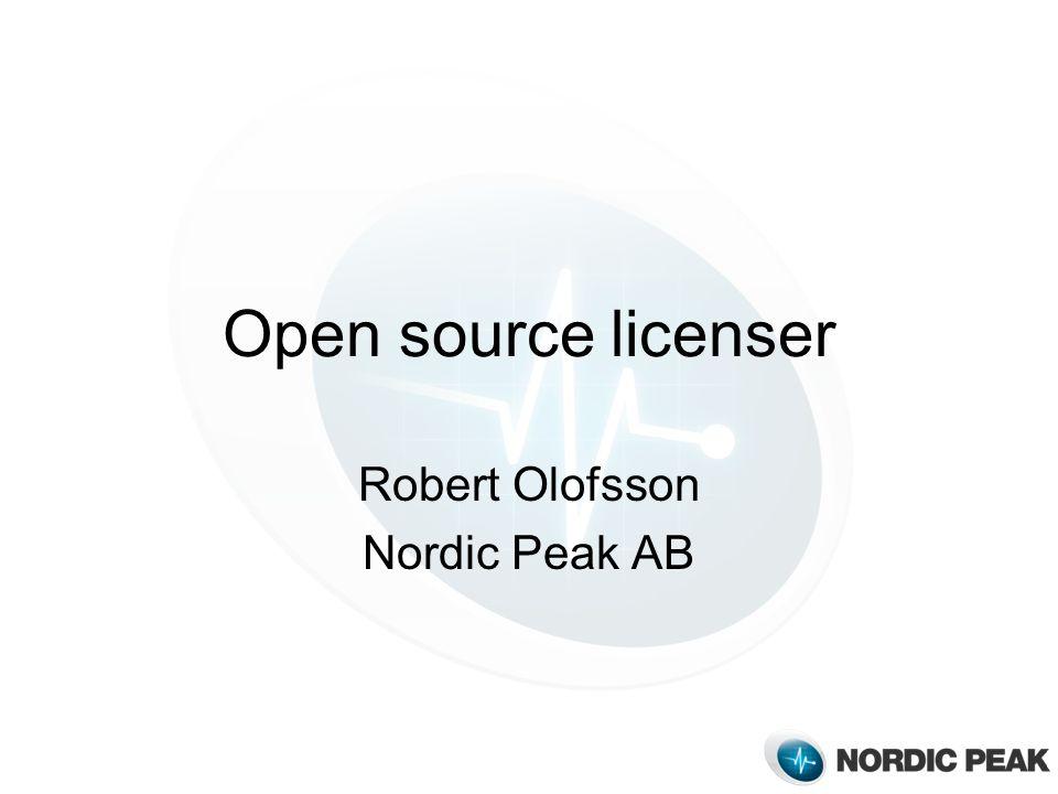 Robert Olofsson Nordic Peak AB