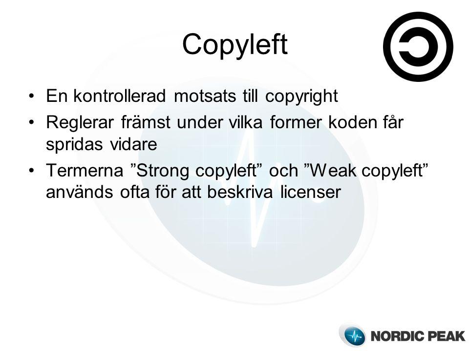 Copyleft En kontrollerad motsats till copyright