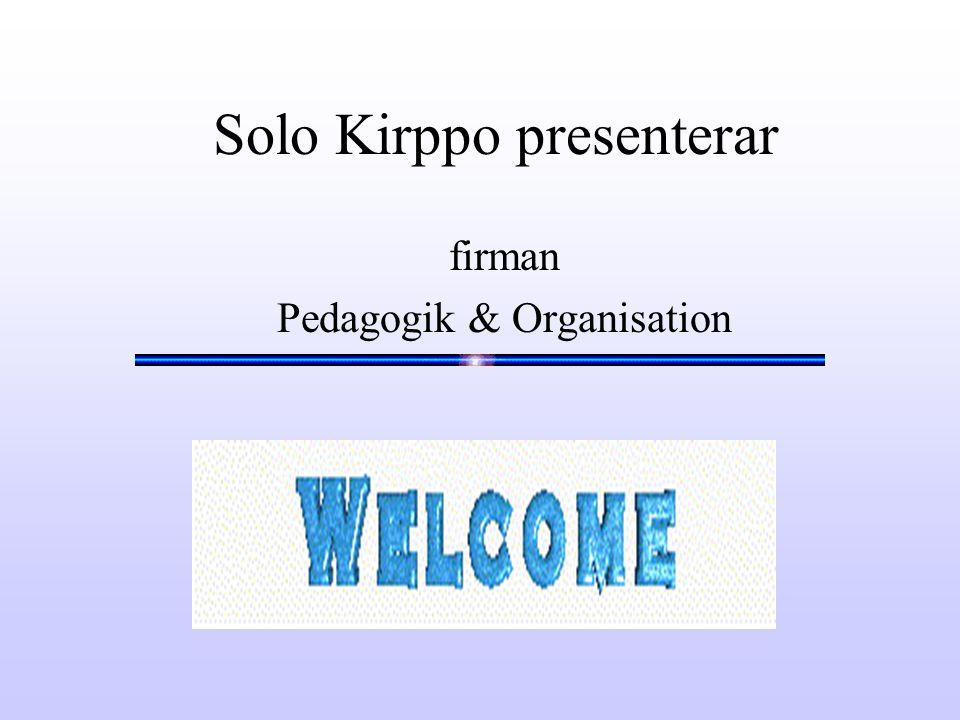 Solo Kirppo presenterar