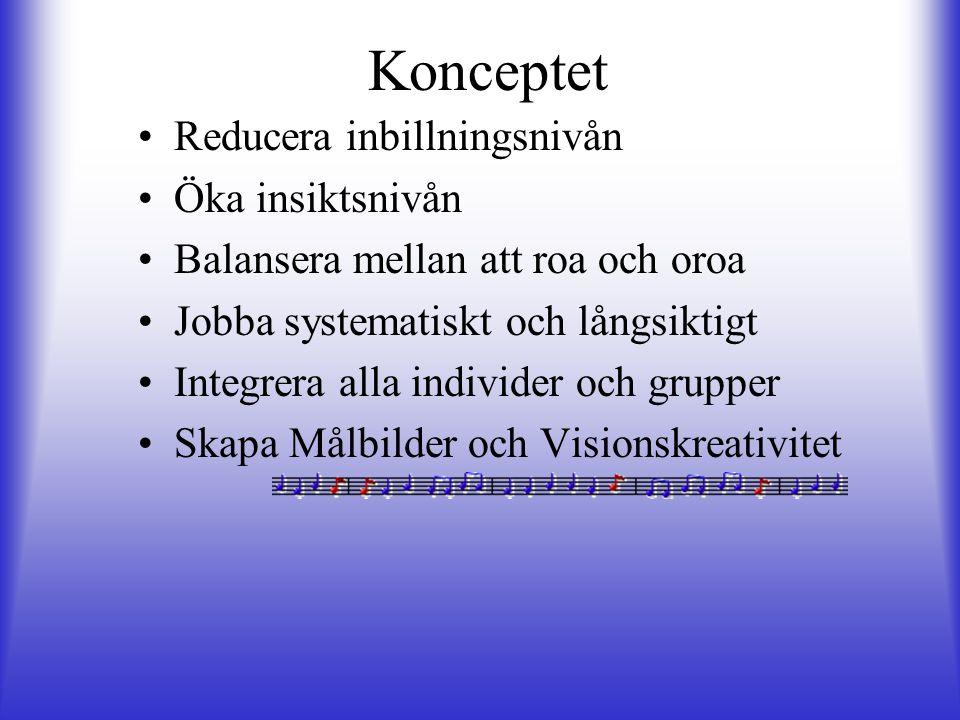 Konceptet Reducera inbillningsnivån Öka insiktsnivån