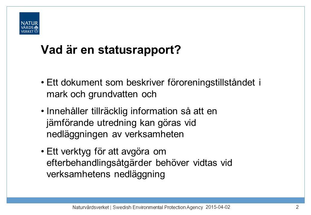 Vad är en statusrapport