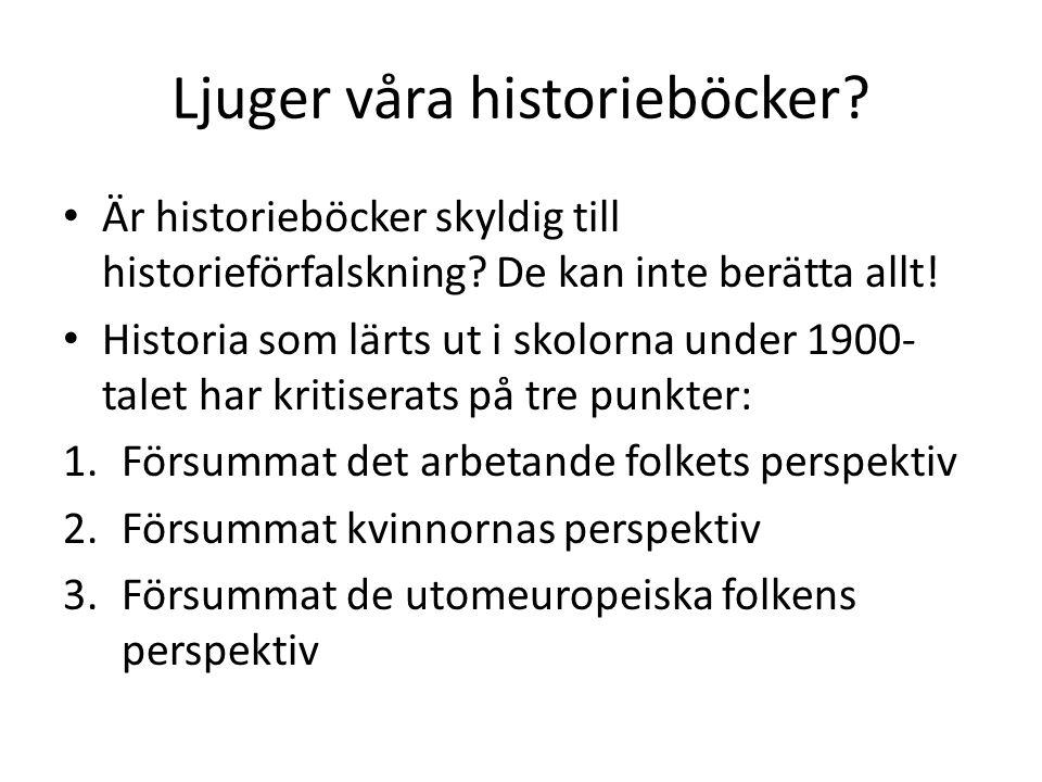 Ljuger våra historieböcker