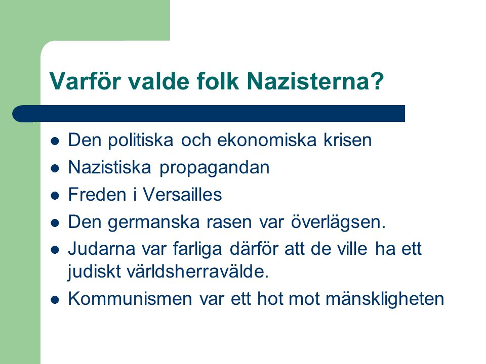 Varför valde folk Nazisterna