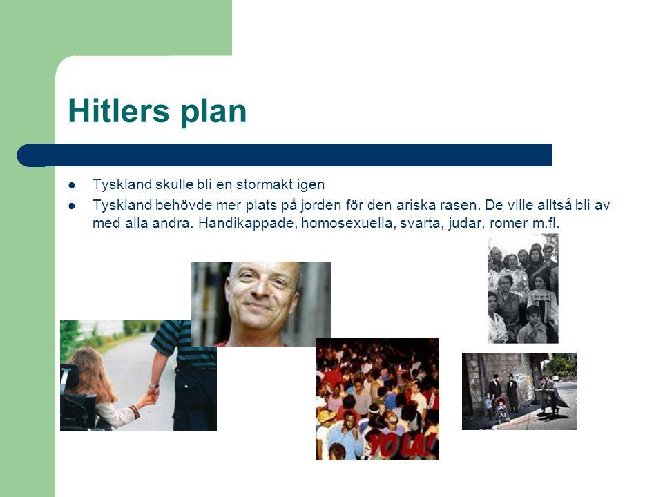 Hitlers plan Tyskland skulle bli en stormakt igen