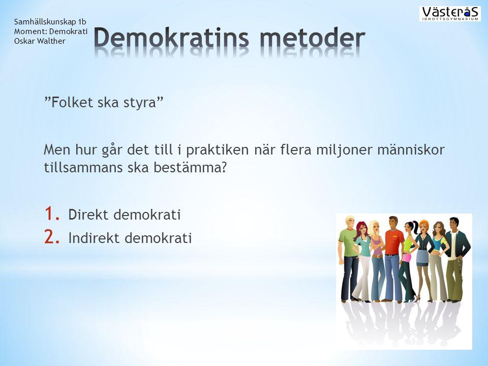 Demokratins metoder Folket ska styra