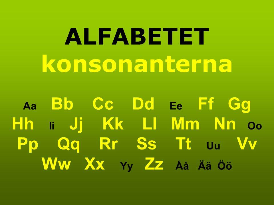 ALFABETET konsonanterna