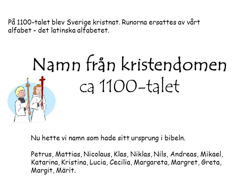 Namn från kristendomen ca 1100-talet
