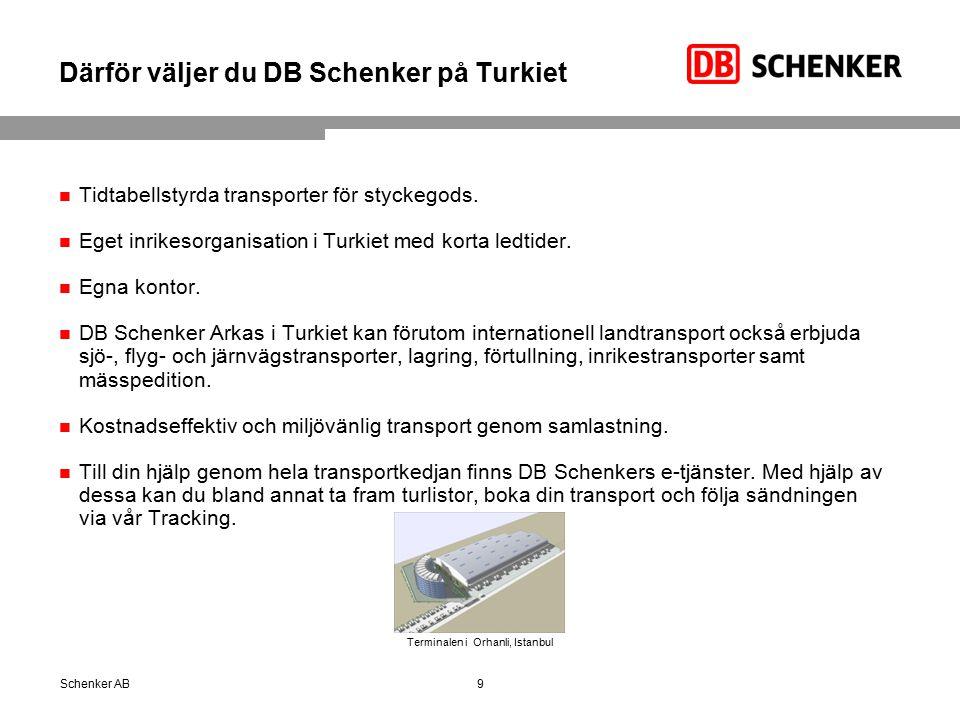 Därför väljer du DB Schenker på Turkiet