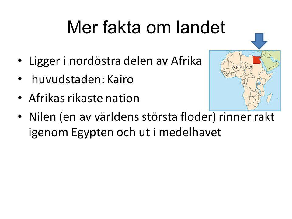 Mer fakta om landet Ligger i nordöstra delen av Afrika
