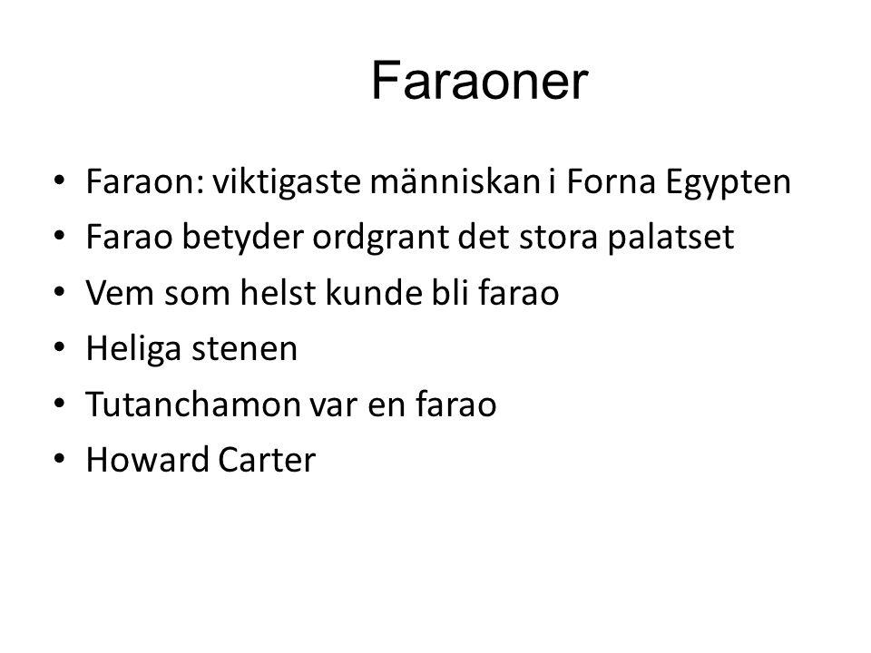 Faraoner Faraon: viktigaste människan i Forna Egypten