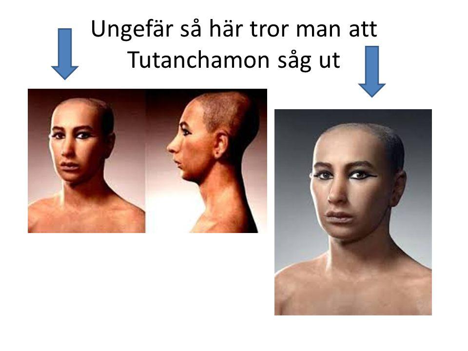 Ungefär så här tror man att Tutanchamon såg ut
