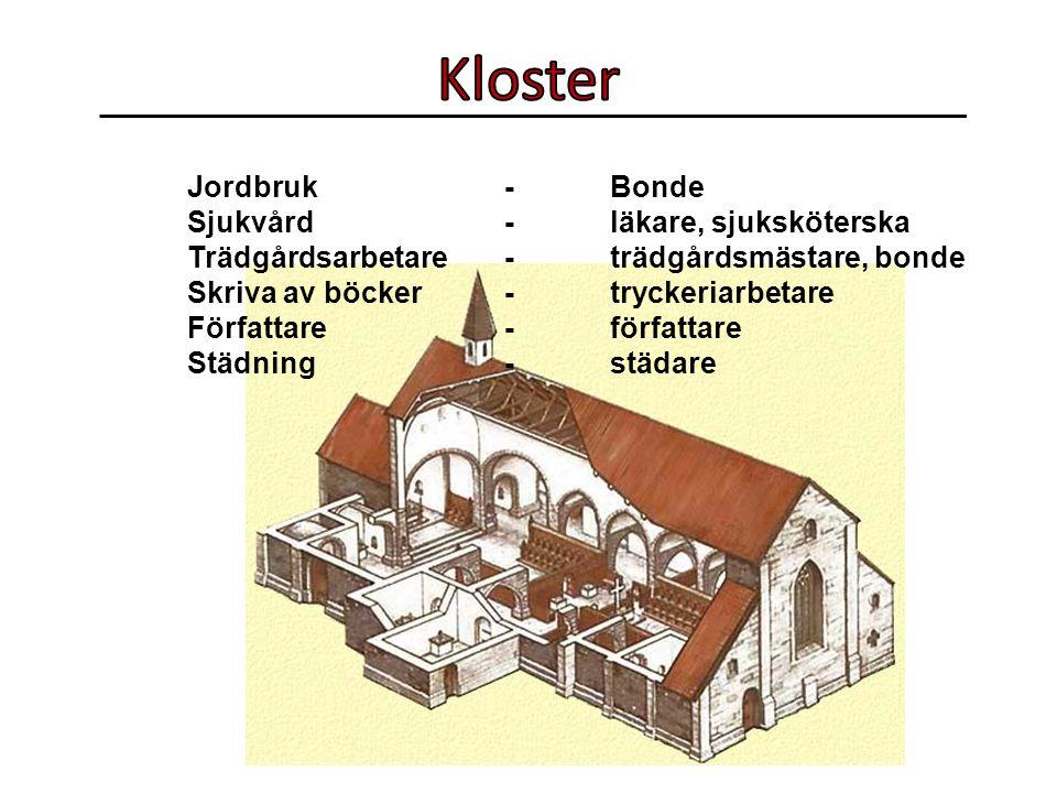 Kloster Jordbruk - Bonde Sjukvård - läkare, sjuksköterska