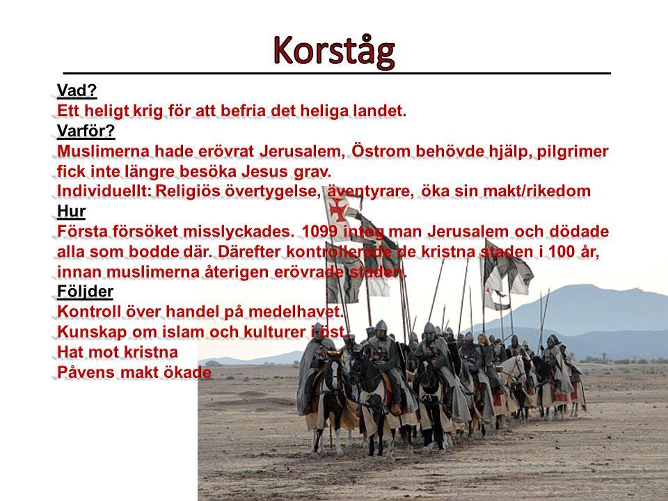 Korståg Vad Ett heligt krig för att befria det heliga landet. Varför