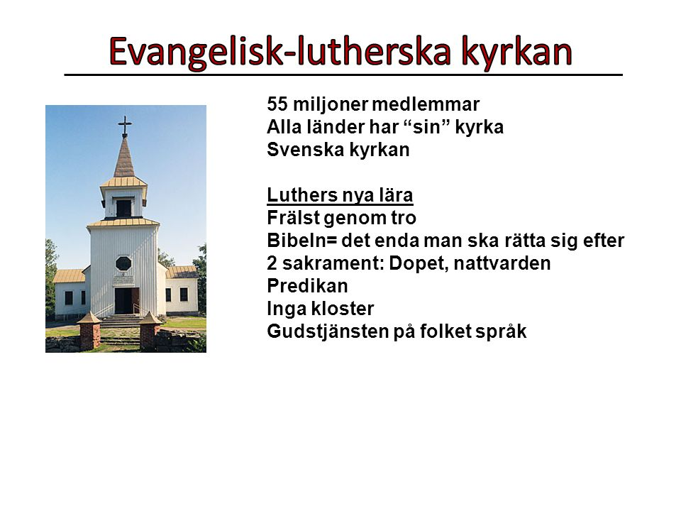 Evangelisk-lutherska kyrkan