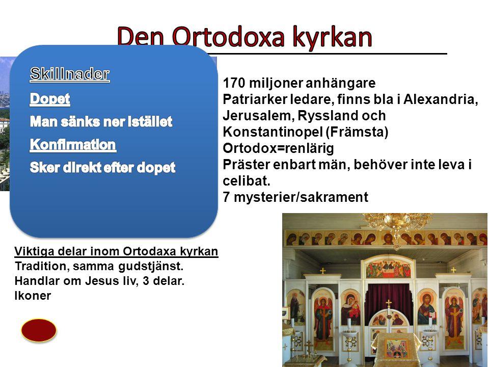 Den Ortodoxa kyrkan Skillnader Dopet Man sänks ner istället