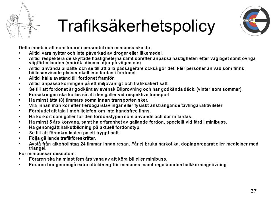 Trafiksäkerhetspolicy