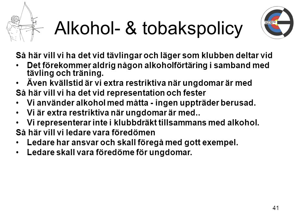Alkohol- & tobakspolicy