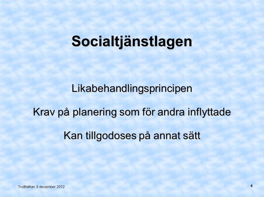Socialtjänstlagen Likabehandlingsprincipen