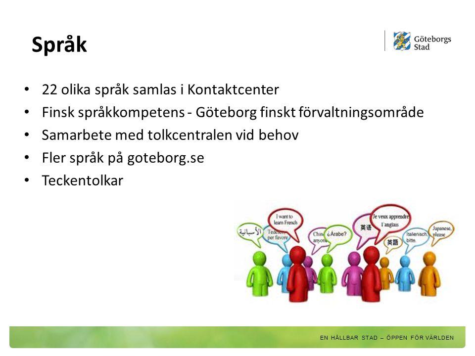 Språk 22 olika språk samlas i Kontaktcenter