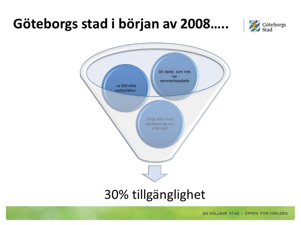 Göteborgs stad i början av 2008…..