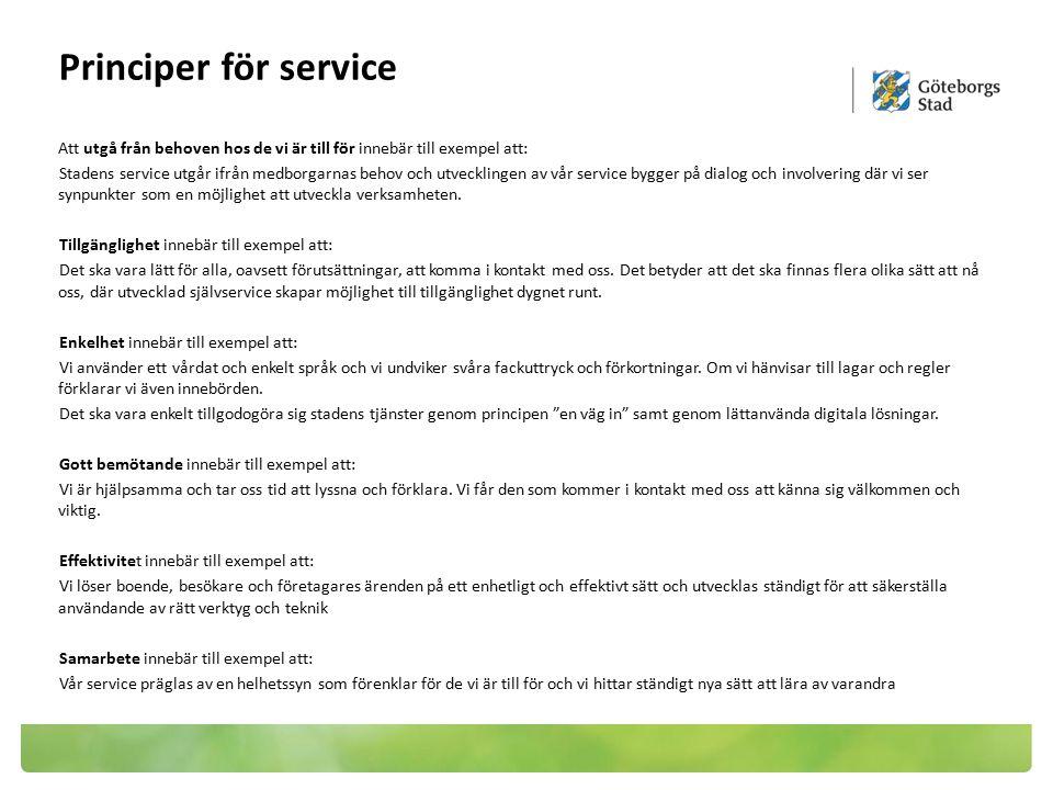 Principer för service
