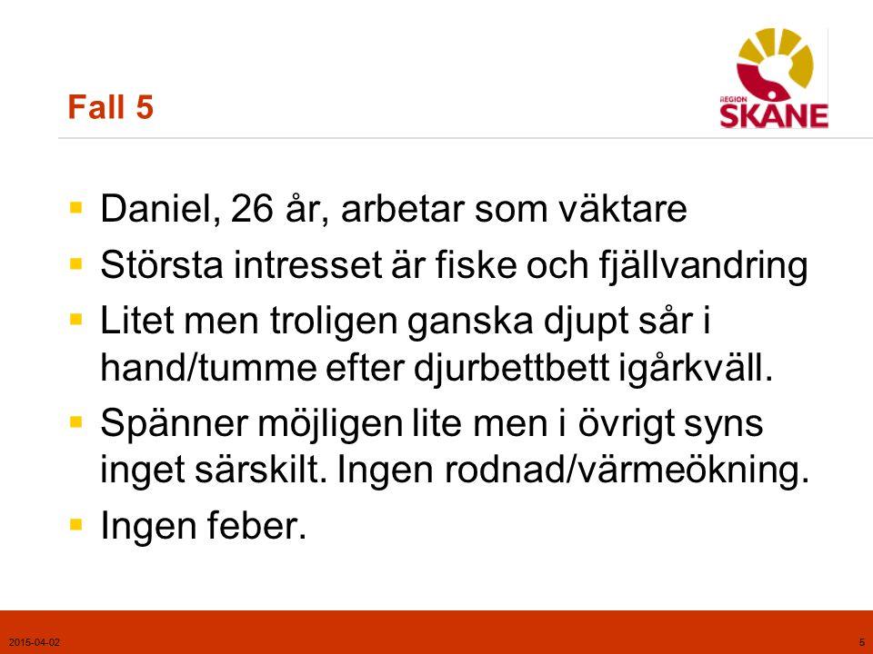 Daniel, 26 år, arbetar som väktare