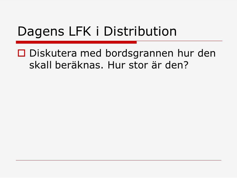 Dagens LFK i Distribution