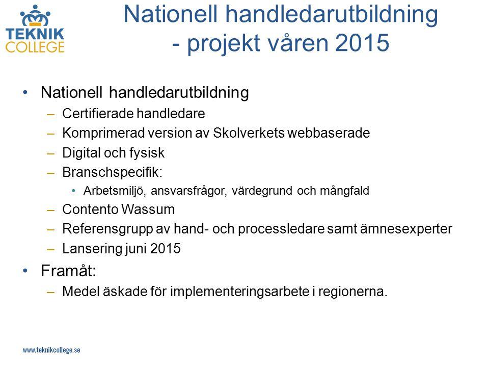 Nationell handledarutbildning - projekt våren 2015