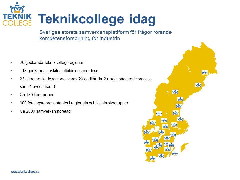 Teknikcollege idag Sveriges största samverkansplattform för frågor rörande kompetensförsörjning för industrin.
