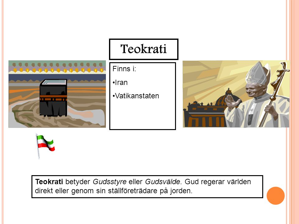 Teokrati Finns i: Iran Vatikanstaten