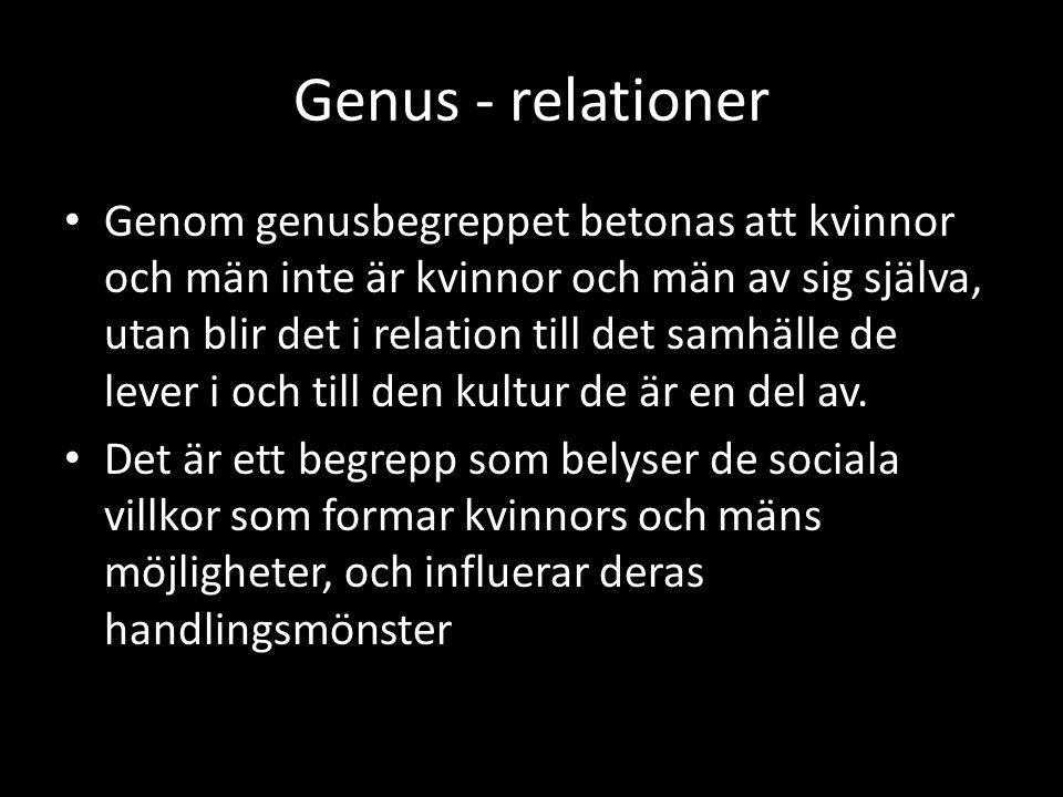 Genus - relationer