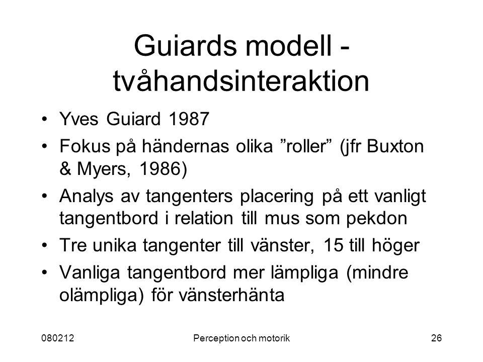 Guiards modell - tvåhandsinteraktion