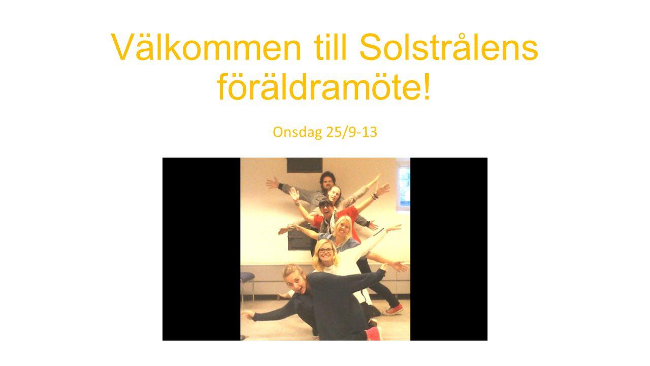 Välkommen till Solstrålens föräldramöte!