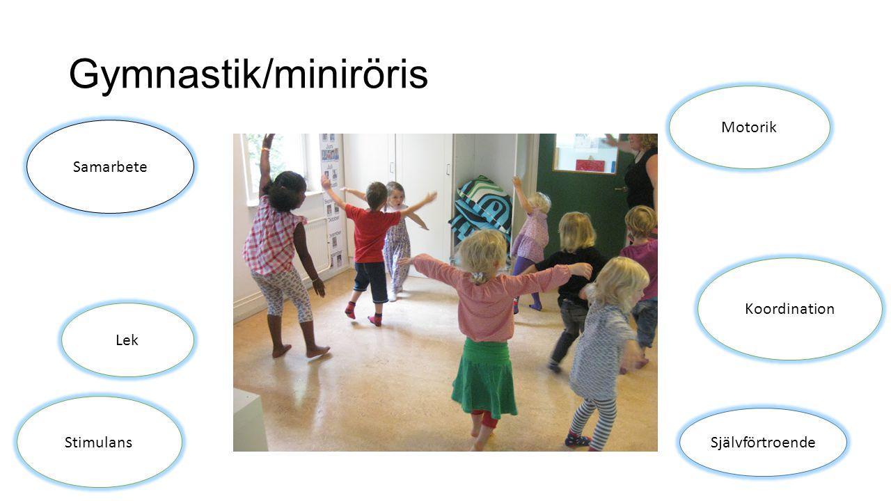 Gymnastik/miniröris Motorik Samarbete Koordination Lek Stimulans