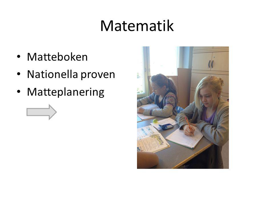 Matematik Matteboken Nationella proven Matteplanering