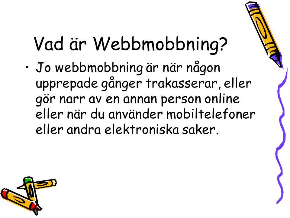 Vad är Webbmobbning
