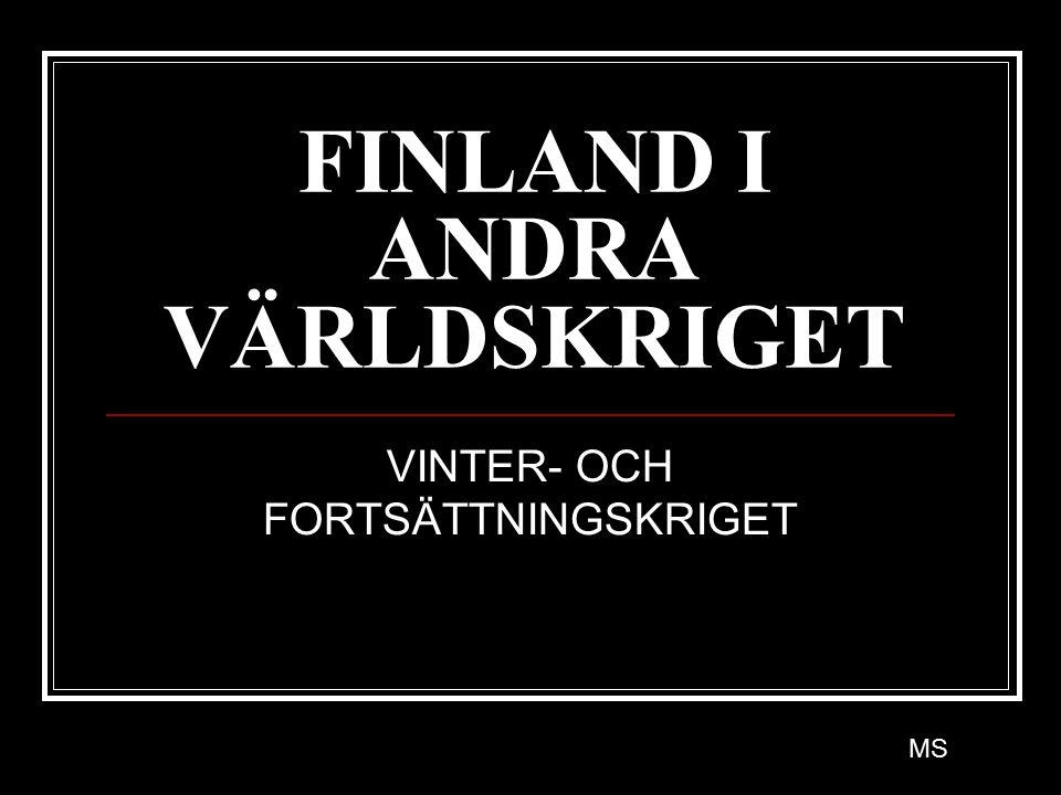 FINLAND I ANDRA VÄRLDSKRIGET